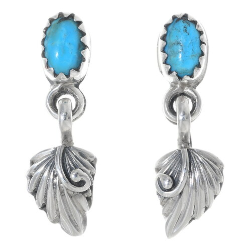 Turquoise Silver Earrings 35220