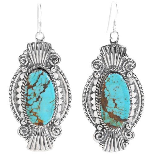 Navajo Number 8 Turquoise Earrings 35249