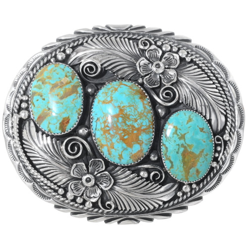 Native Turquoise Belt Buckle 24688