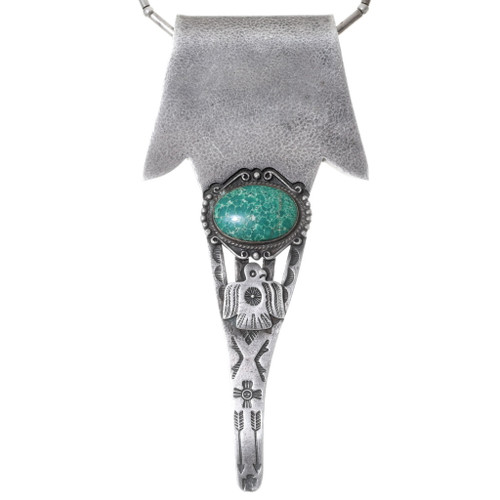 Old Pawn Turquoise Silver Pendant 35298