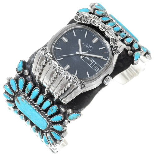 Old Pawn Turquoise Watch Cuff 35323
