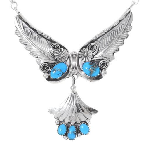 Sleeping Beauty Turquoise Sterling Silver Necklace 35335