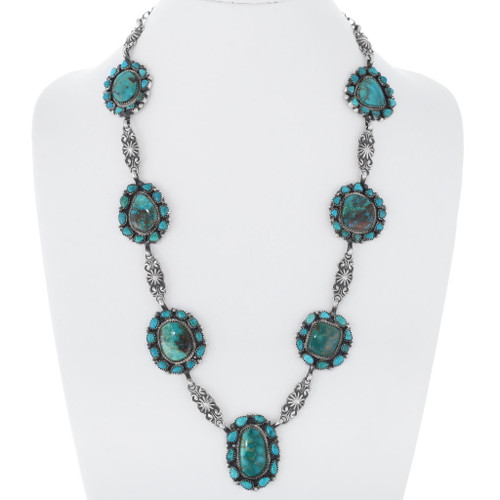 Green Turquoise Navajo Necklace 35352