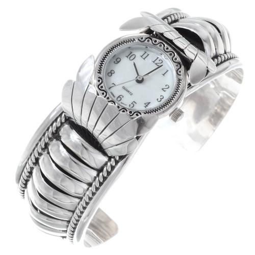 All Sterling Silver Navajo Watch Cuff 35384