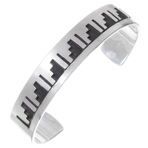 Overlaid Silver Cloud Rain Bracelet 23599