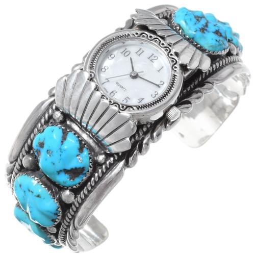 Sleeping Beauty Turquoise Watch Cuff 35408