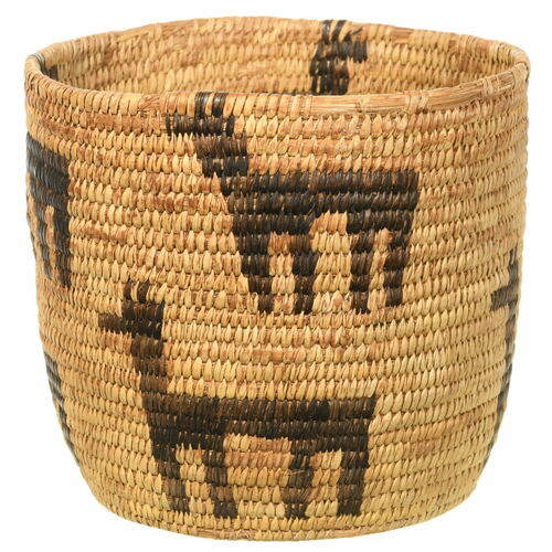 Antique Papago Indian Figural Basket 35414