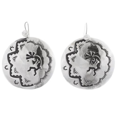 Sterling Silver Kokopelli Earrings 35466