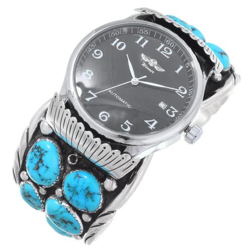 Old Pawn Natural Kingman Turquoise Watch 35467