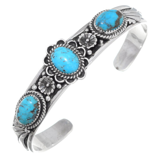 Number 8 Turquoise Cuff Bracelet 35486