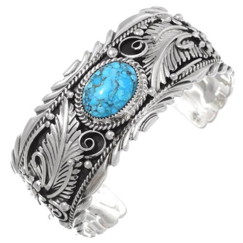 Native American Turquoise Silver Cuff 35490