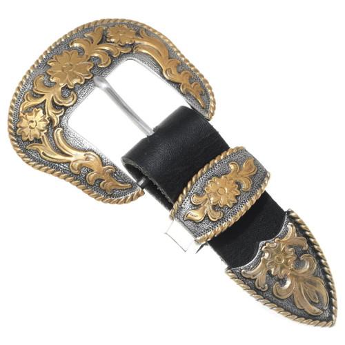Large Silver Gold Ranger Belt Buckle Set 35615