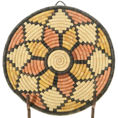 Vintage Hopi Coiled Basket Tray 35691