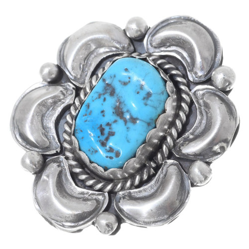 Turquoise Sterling Silver Navajo Ring 35733