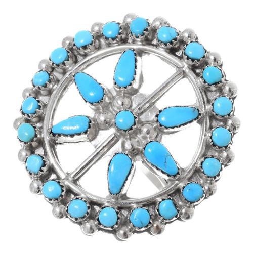 Sleeping Beauty Turquoise Zuni Ring 35734