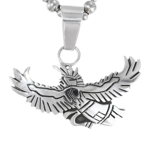 Navajo Sterling Silver Eagle Pendant 35834