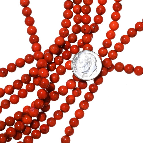 Apple Coral Beads 35525