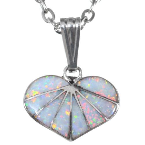 Zuni Opal Heart Pendant 35849