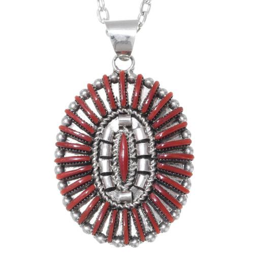 Native American Coral Pendant 35852