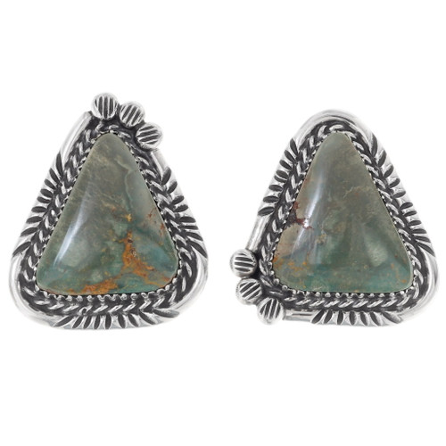 Nevada Turquoise Silver Post Earrings 35862