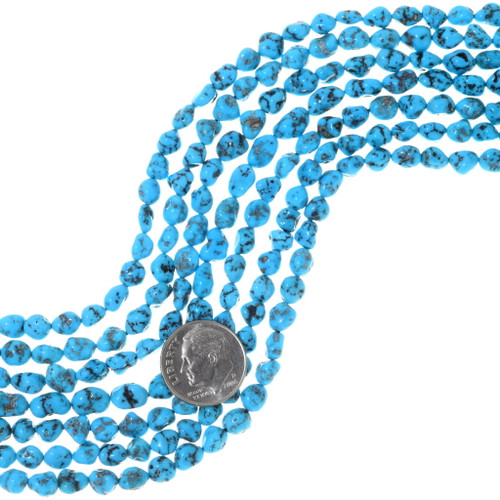 Natural Turquoise Nugget Beads 35543