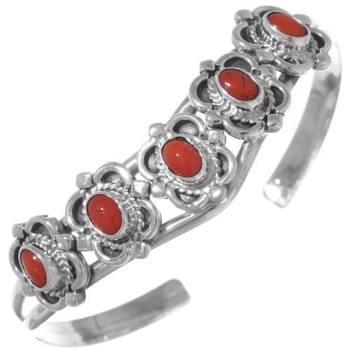 Sterling Silver Coral Bracelet 35898