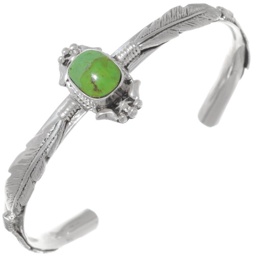 Green Turquoise Feather Bracelet 35902
