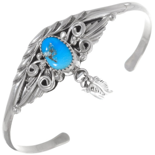 Sleeping Beauty Turquoise Feather Bracelet 35904