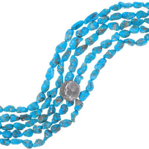 Natural Kingman Turquoise Nugget Beads 35574