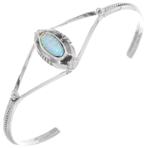 Sterling Silver Fire Opal Bracelet