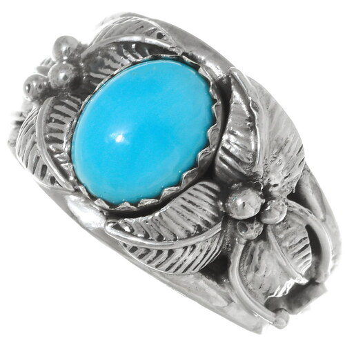 Navajo Turquoise Ladies Ring 35957