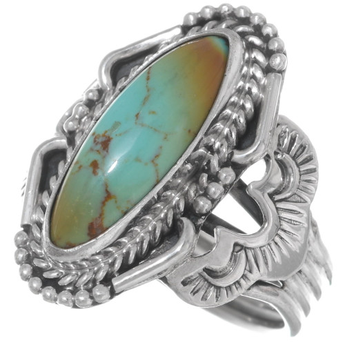 Navajo Sterling Silver Turquoise Ring 35969