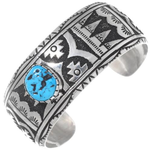 Native American Sterling Silver Cuff Bracelet 38019