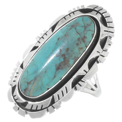 Green Turquoise Navajo Ring 38039