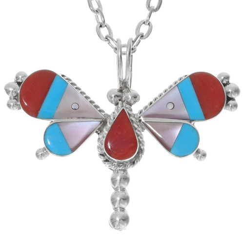 Colorful Sterling Silver Butterfly Pendant 38045