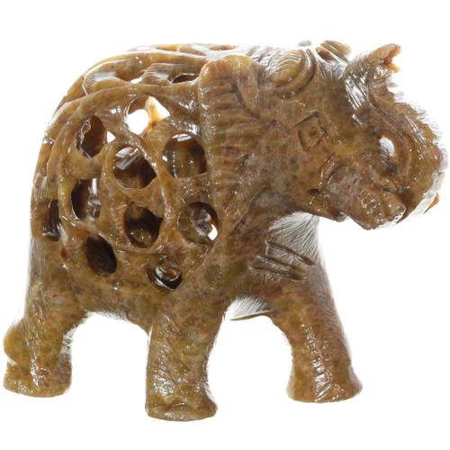 Carved Stone Elephant Fetish 38047