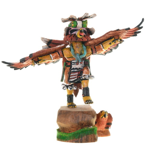 Hopi Red Tail Hawk Kachina Doll 38069