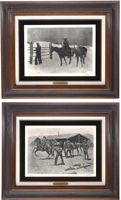 Vintage Frederic Remington Framed Etchings 39122