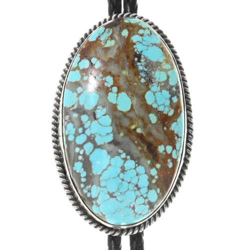 Large Number 8 Turquoise Bolo Tie 39179