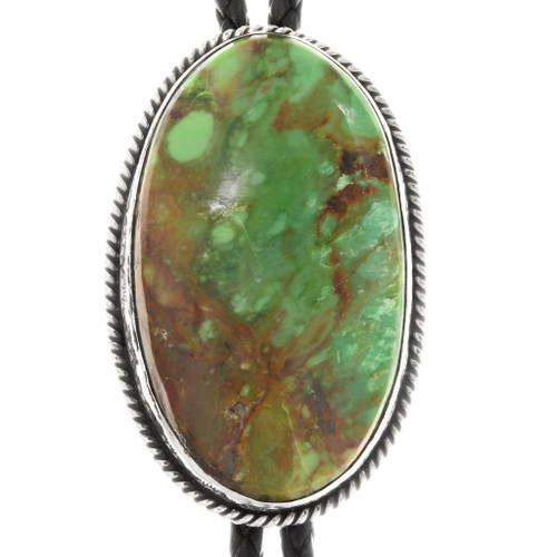Large Green Turquoise Bolo Tie 39181