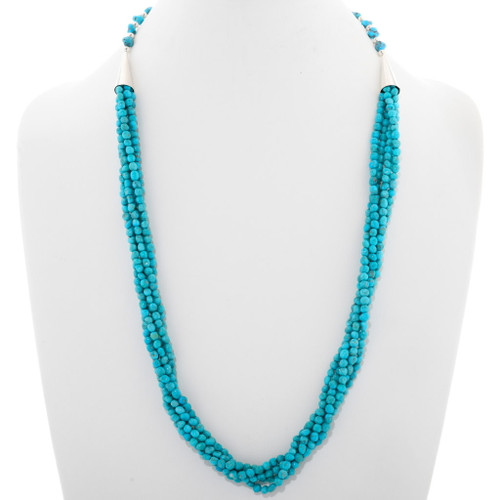 Natural Turquoise Bead Necklace 39183