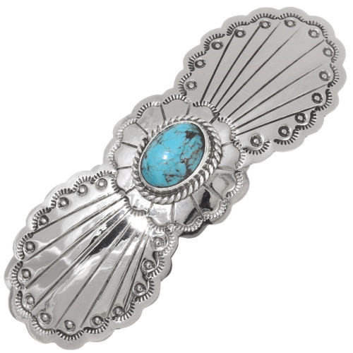 Turquoise Silver Navajo Hair Barrette 39215