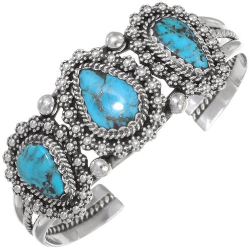 Navajo Silver Turquoise Bracelet 20927