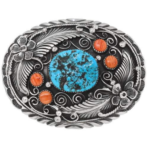 Turquoise Navajo Belt Buckle 21187