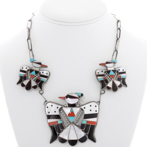 Vintage Zuni Thunderbird Necklace 39278