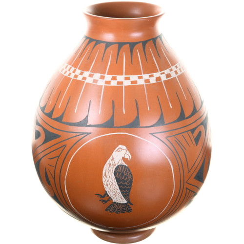 Mata Ortiz Eagle Design Olla Pottery 39312