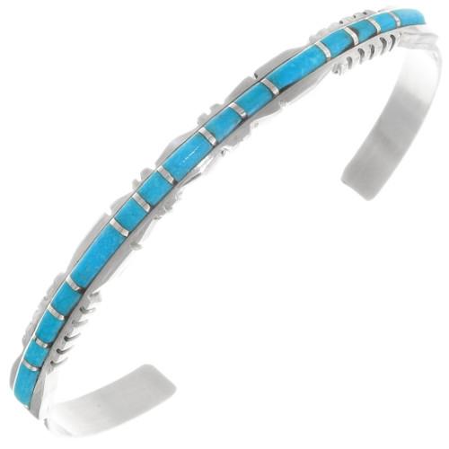 Sleeping Beauty Turquoise Inlay Bracelet 39324