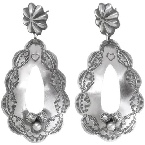 Sterling Silver Navajo Earrings 39362