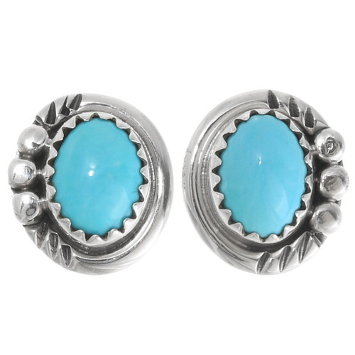 Sterling Silver Turquoise Post Earrings 39372