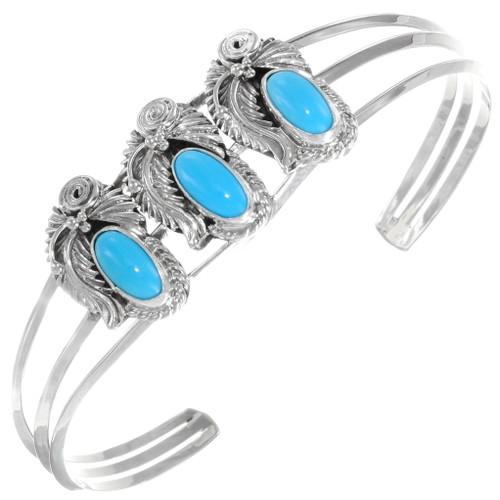 Navajo Blue Turquoise Bracelet 39374